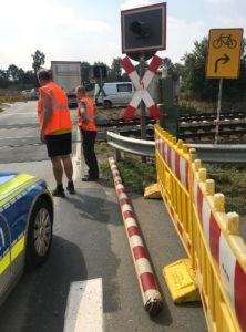 Unfall Bahnschranke Schäferweg