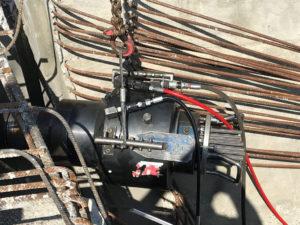 Hydrauliksystem für Spannstähle