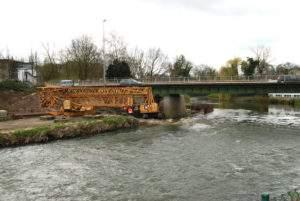 Flutwelle Hansabrücke