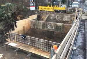 Verschalung Hansabrücke
