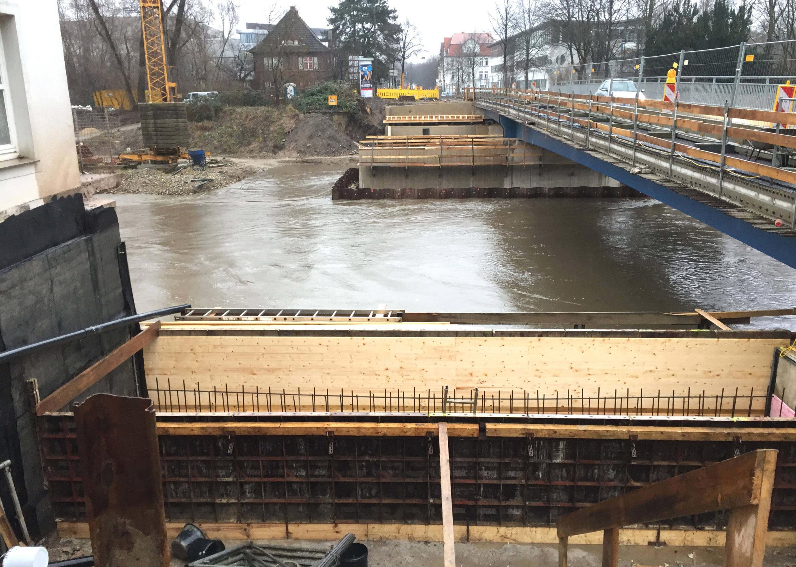 Hochwasser Hansabrücke