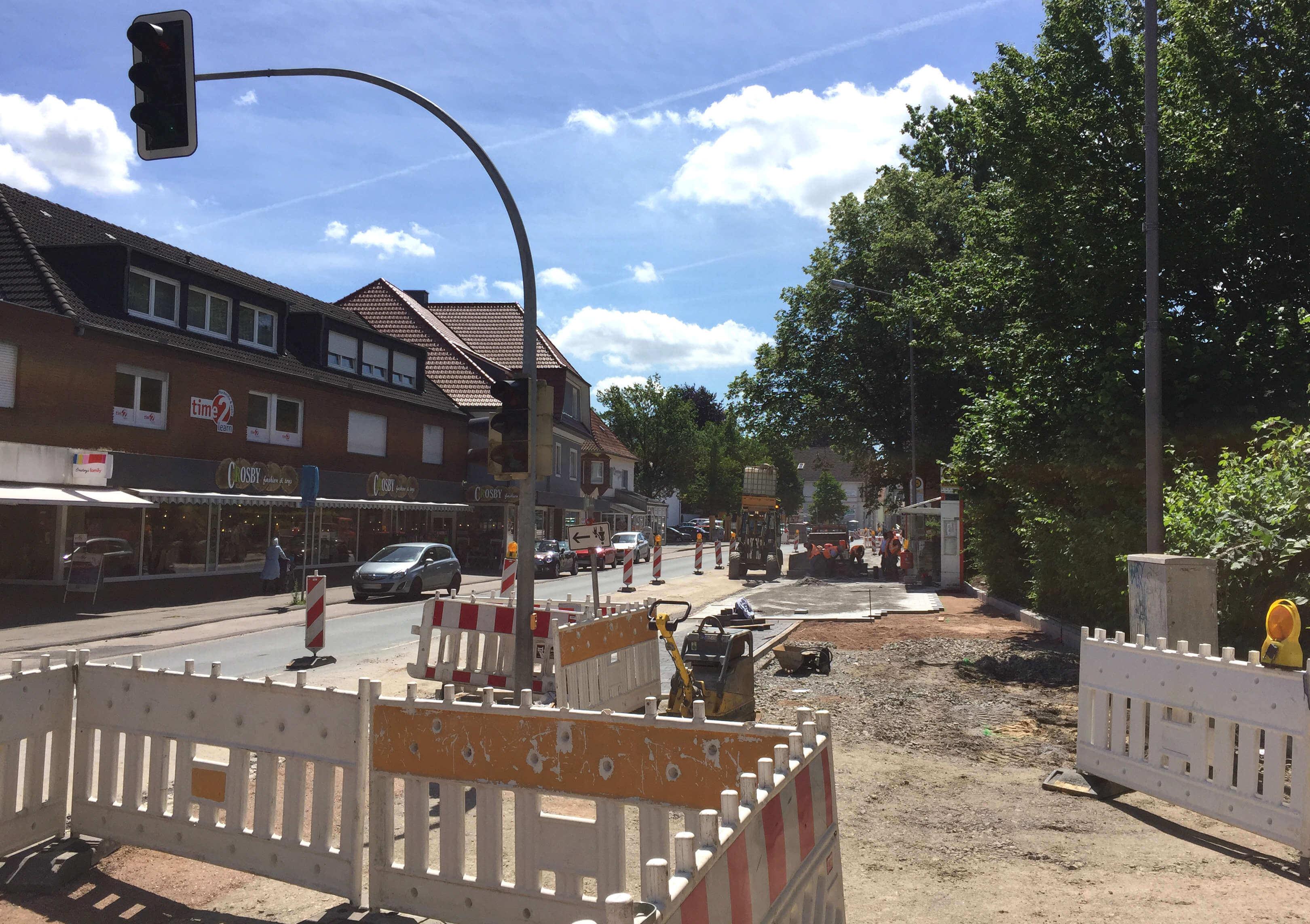 Pflasterarbeiten Lange Straße Spenge