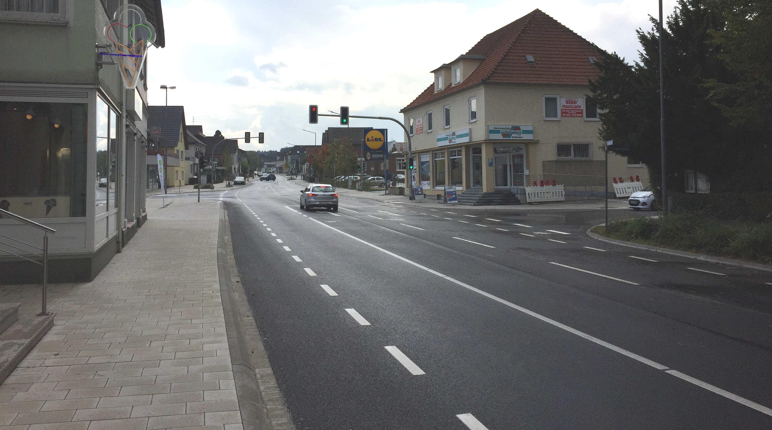 Ampel Lange Straße Spenge