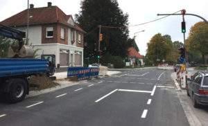 Fußgängerampel Lange Straße Spenge
