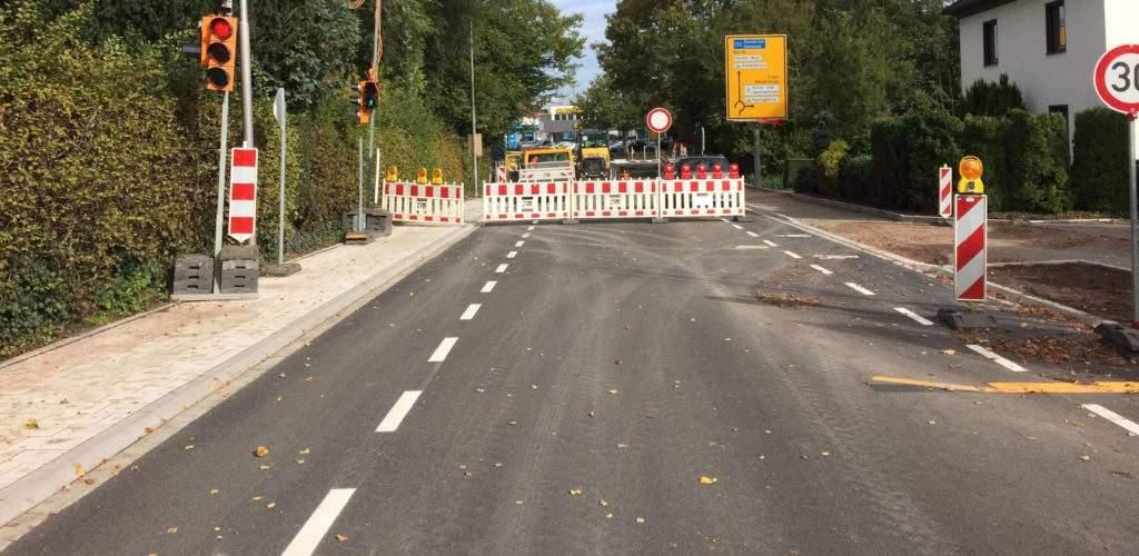 Sperrung Lange Straße Spenge