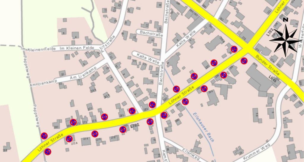 Halteverbote Löhner Straße