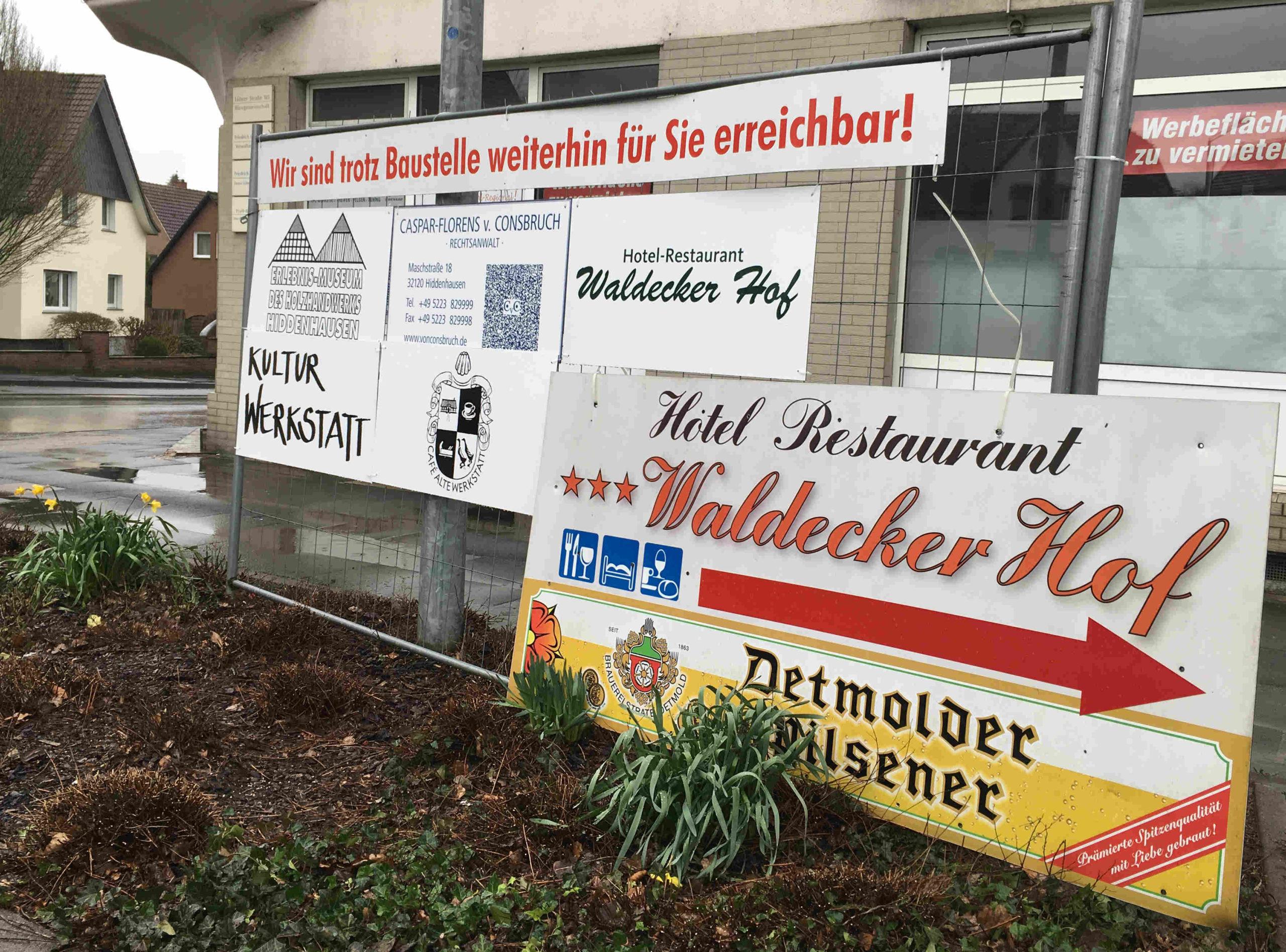 Firmenschilder Baustelle Maschstraße